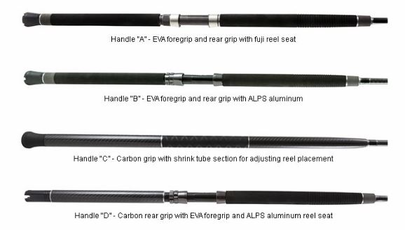 Okuma SCT Boat Rod Handle Types