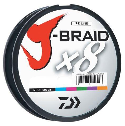 Daiwa J Braid x8 Multi Color