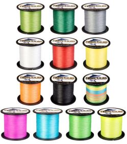 Hercules Braided Fishing Line By Color