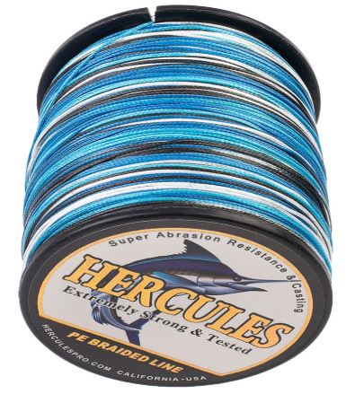 Hercules Braided Fishing Line Review: 4 & 8 Strand PE Spools
