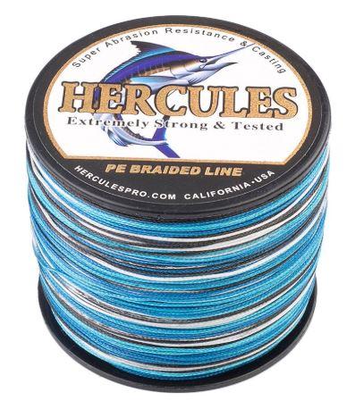 Hercules Braided Fishing Line Blue Camo