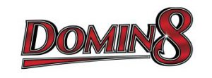 Domin8 Logo In White Background